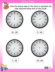 Draw-the-minute-hand-worksheet-11