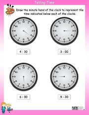Draw-the-minute-hand-worksheet-2
