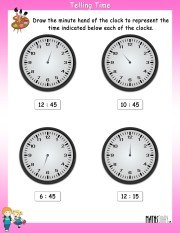 Draw-the-minute-hand-worksheet-9