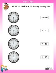 Match-the-clock-with-time-worksheet-10