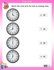 Match-the-clock-with-time-worksheet-2