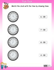 Match-the-clock-with-time-worksheet-3