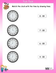 Match-the-clock-with-time-worksheet-6