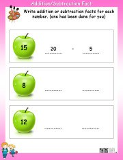 addition-Subtraction-fact-worksheet-1