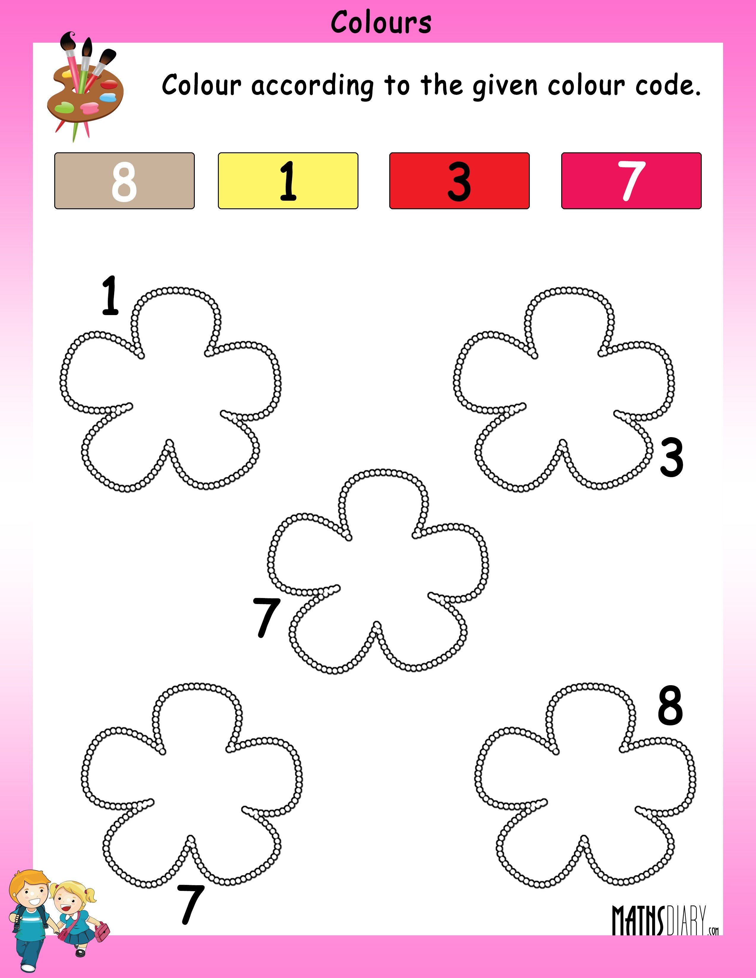 Worksheets Worksheets For Nursery numbers nursery math worksheets color accordingly worksheet 5