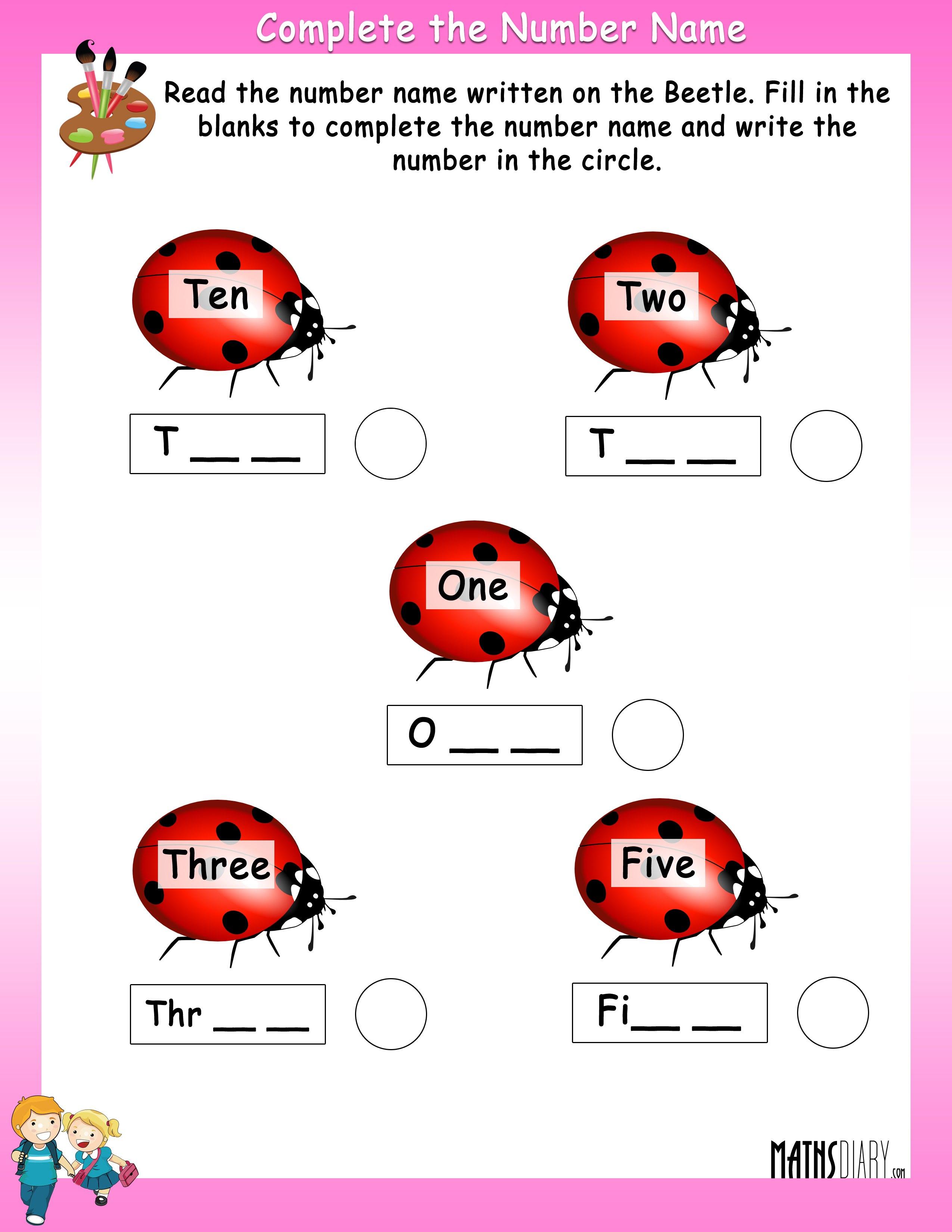 Numbers - UKG Math Worksheets