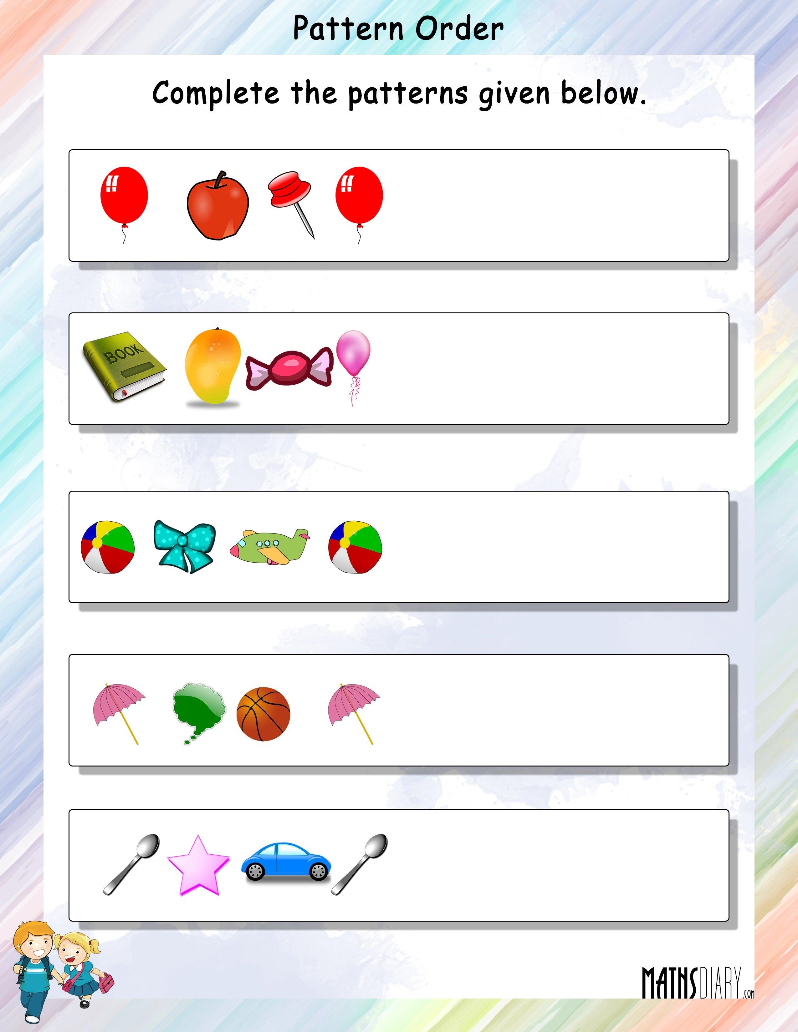 Patterns - MathsDiary.com
