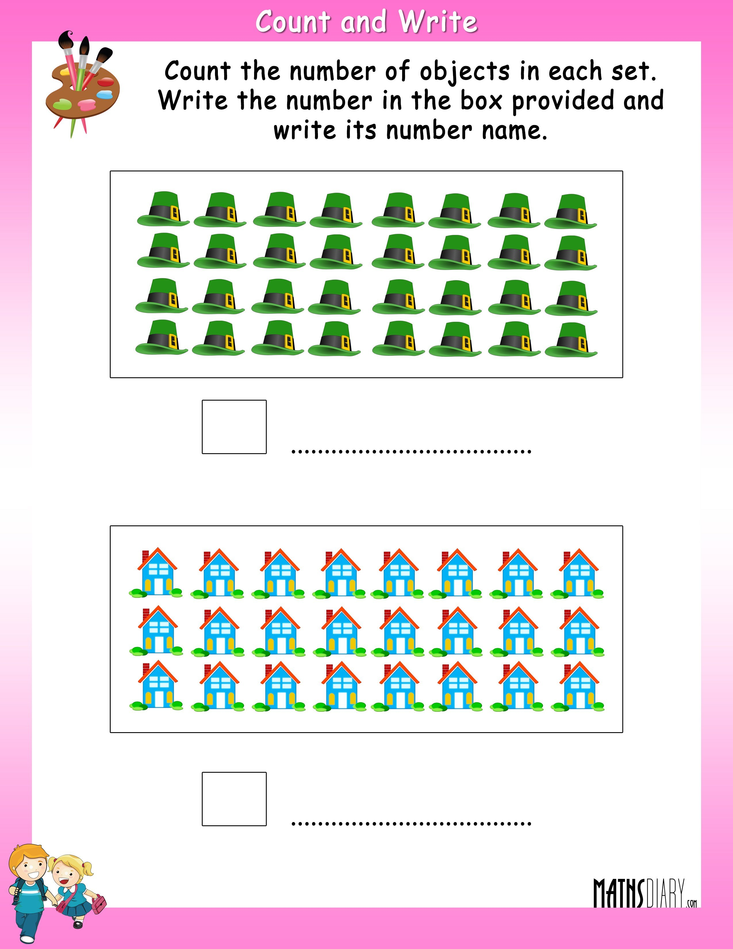Counting – Grade 1 Math Worksheets - Page 3
