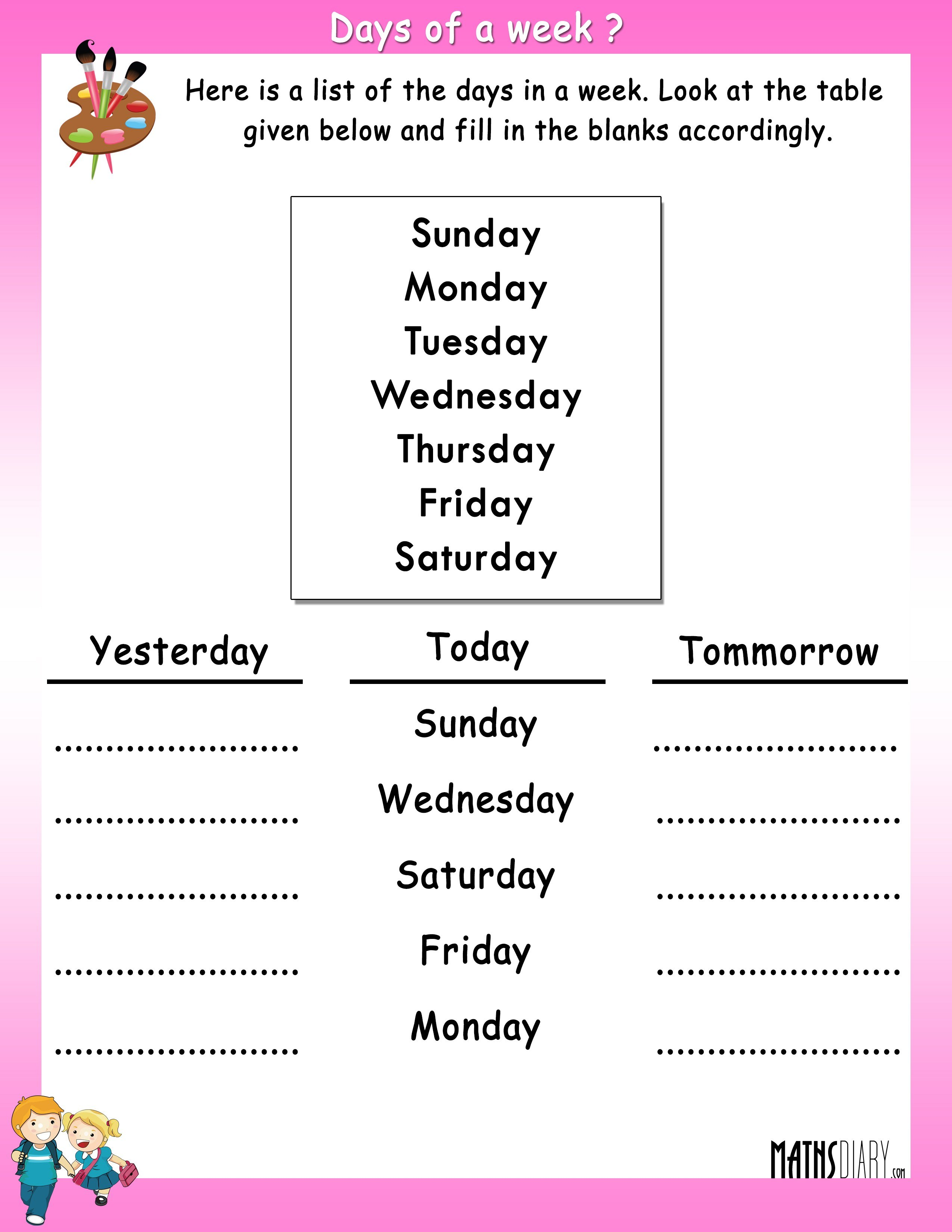 Printable Second Grade (Grade 2) Worksheets, Tests, and Activities