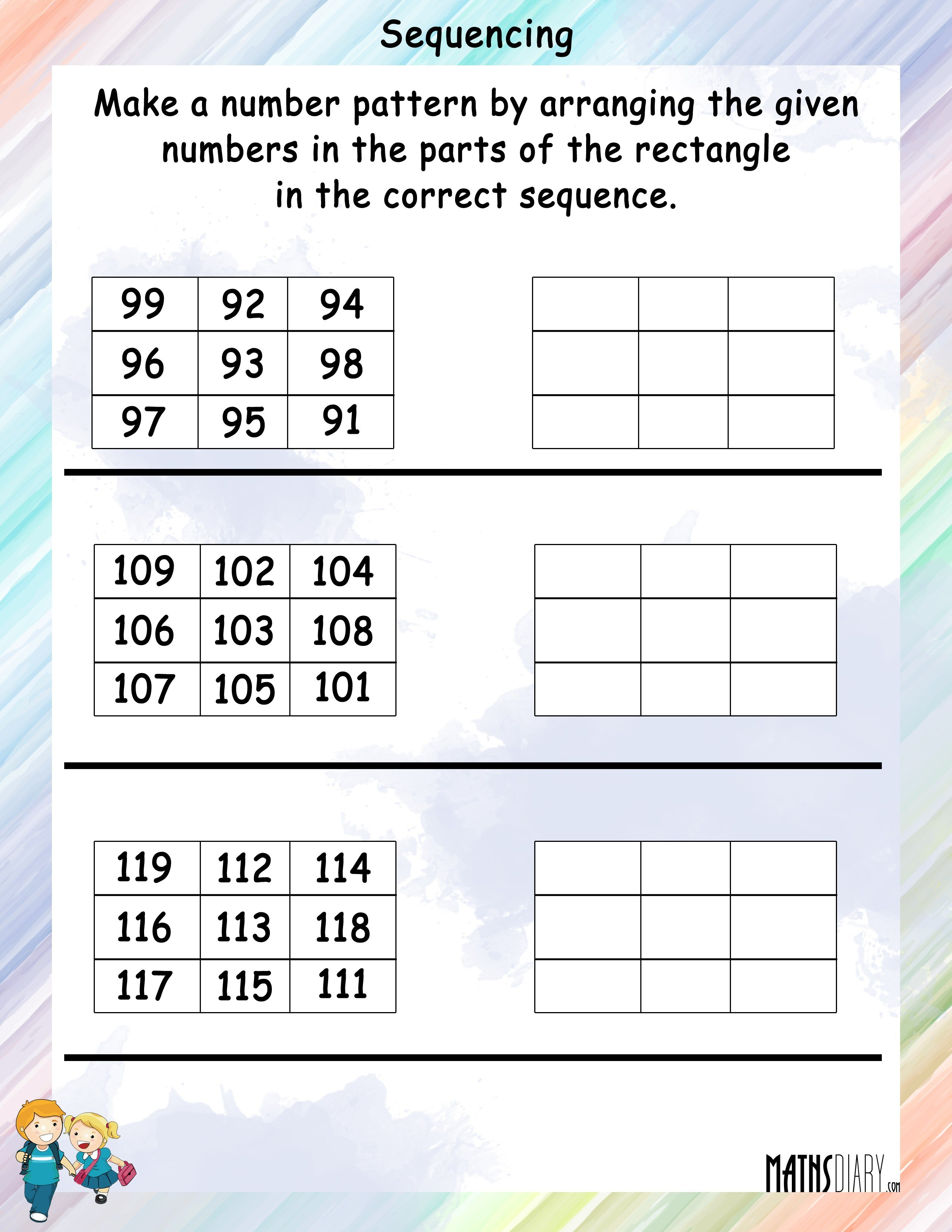 Arrange The Numbers In Sequence In The Rectangle Mathsdiary