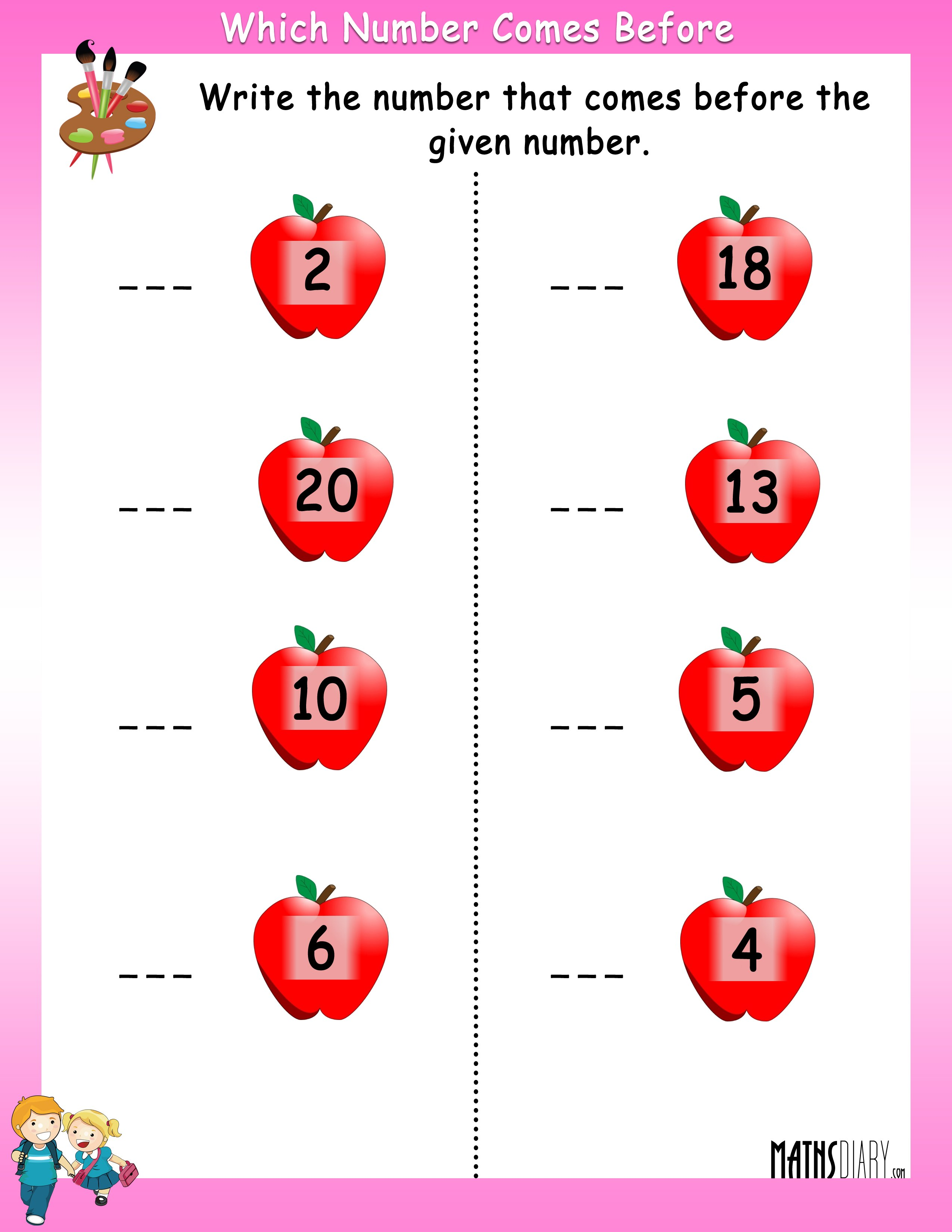 Numbers – Grade 1 Math Worksheets - Page 5