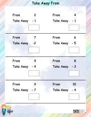 subtraction-worksheet- 1