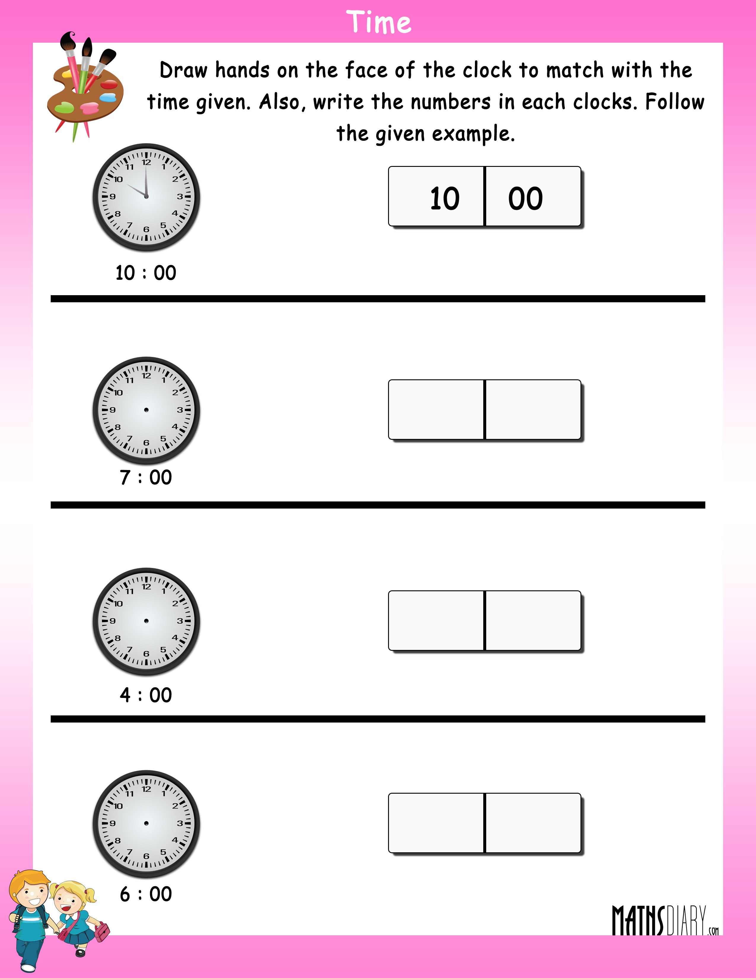 time-worksheet-5 Take Away Math Worksheets For Grade on place value, answer key, tens for, addition subtaraction, addition subtraction, printable coloring, common core,
