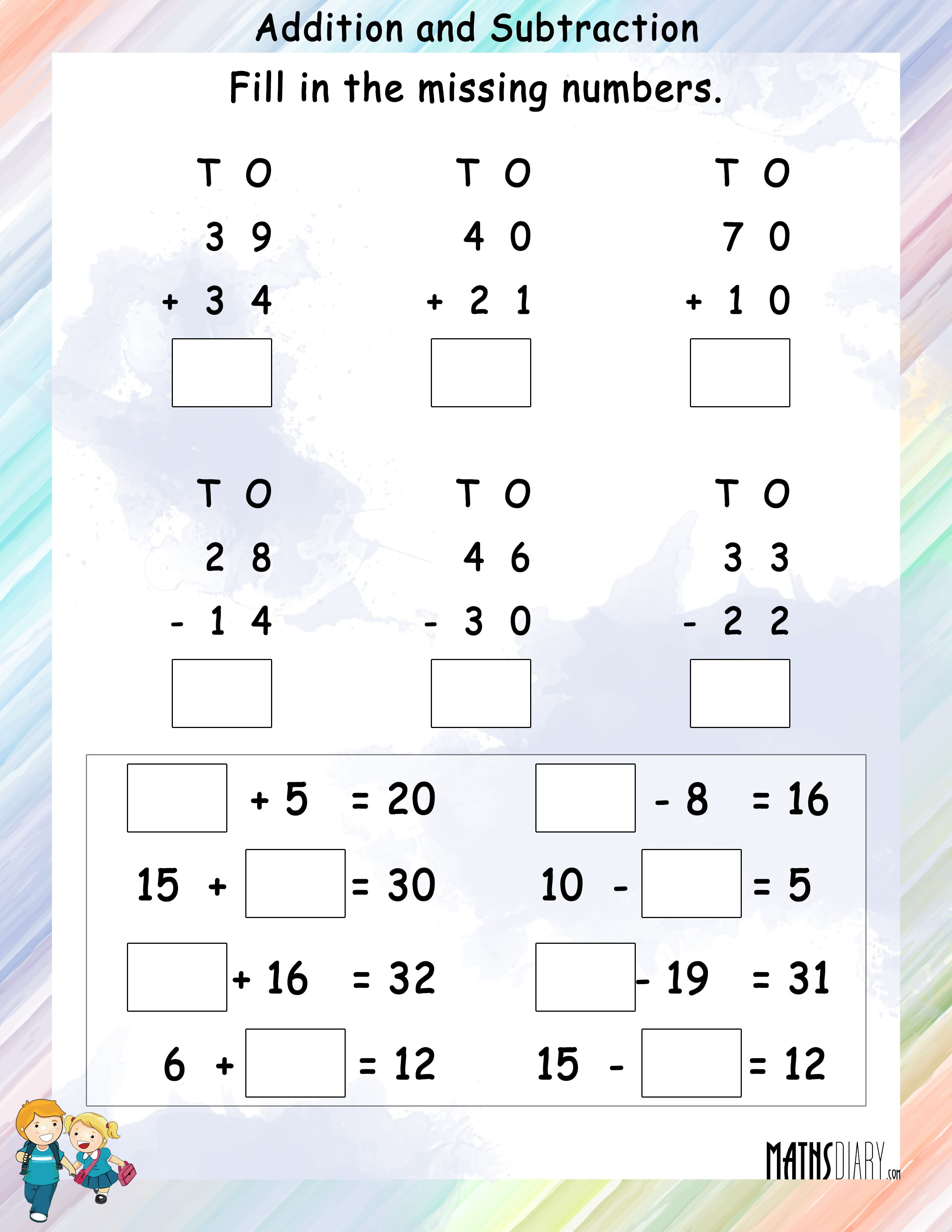 Addition And Subtraction Worksheets Grade 1 Addition And – Subtraction Worksheets Grade 1