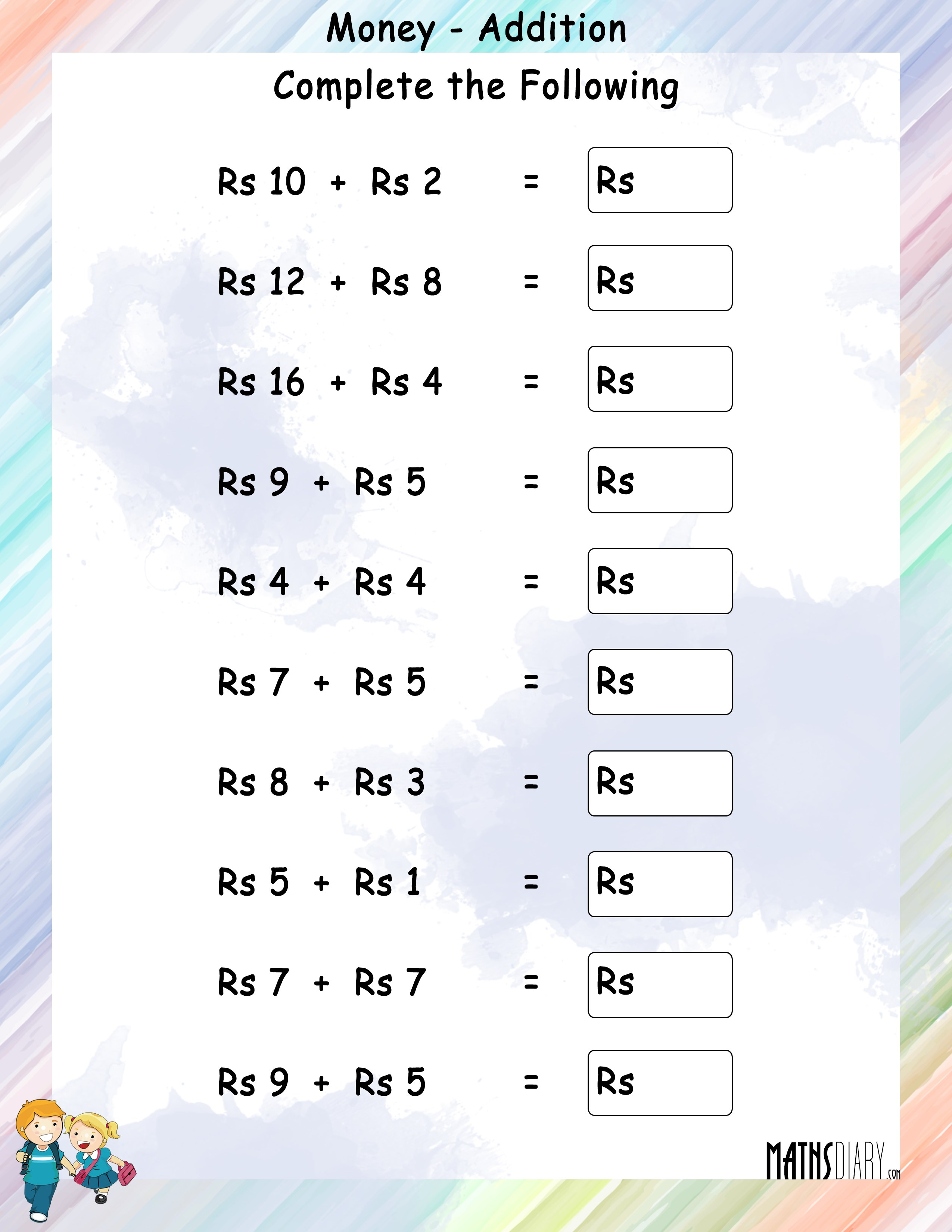 - Addition – Grade 1 Math Worksheets - Page 2