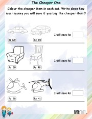 Color-the-cheaper-item-worksheet- 1