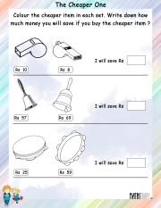 Color-the-cheaper-item-worksheet- 12