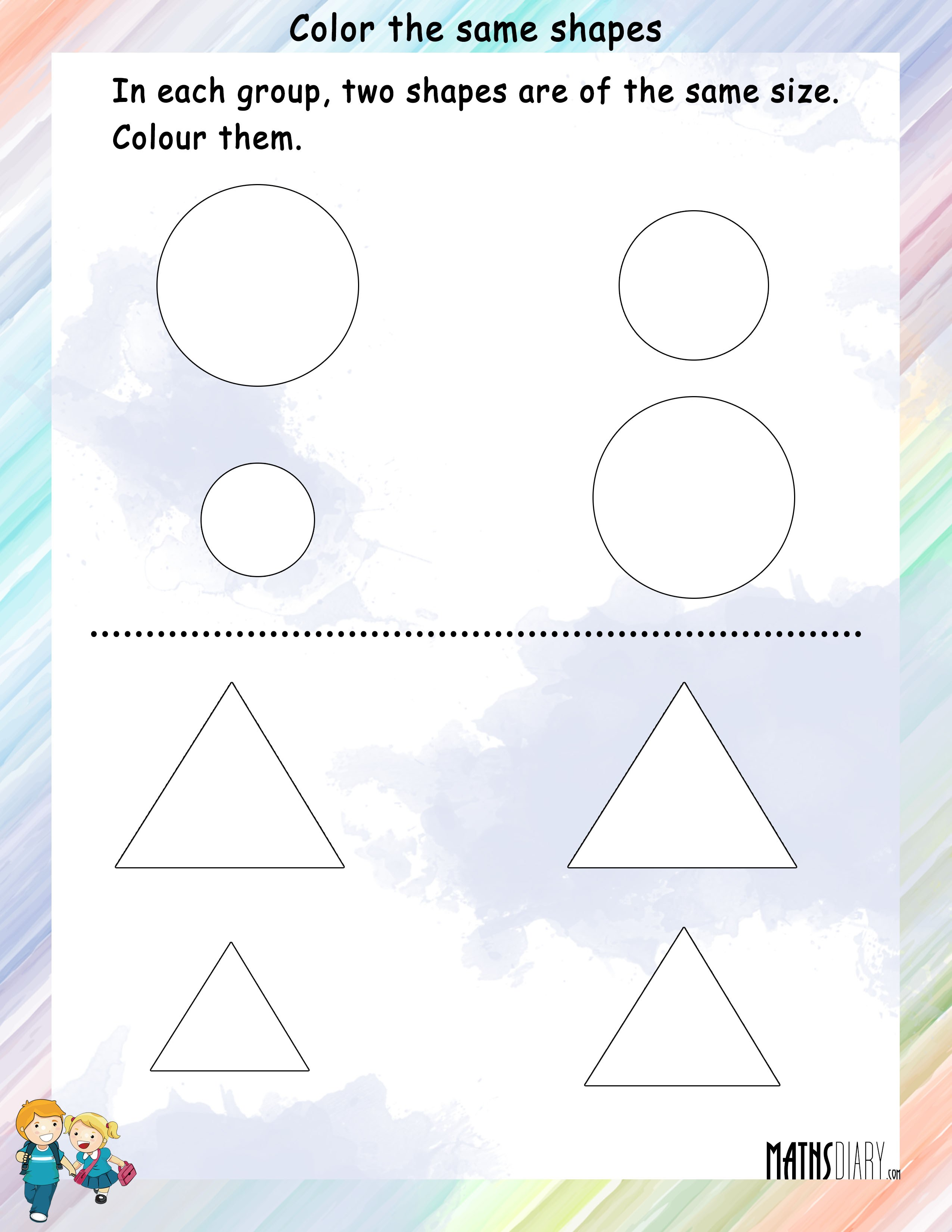 Shapes UKG Math Worksheets – Shapes Maths Worksheets
