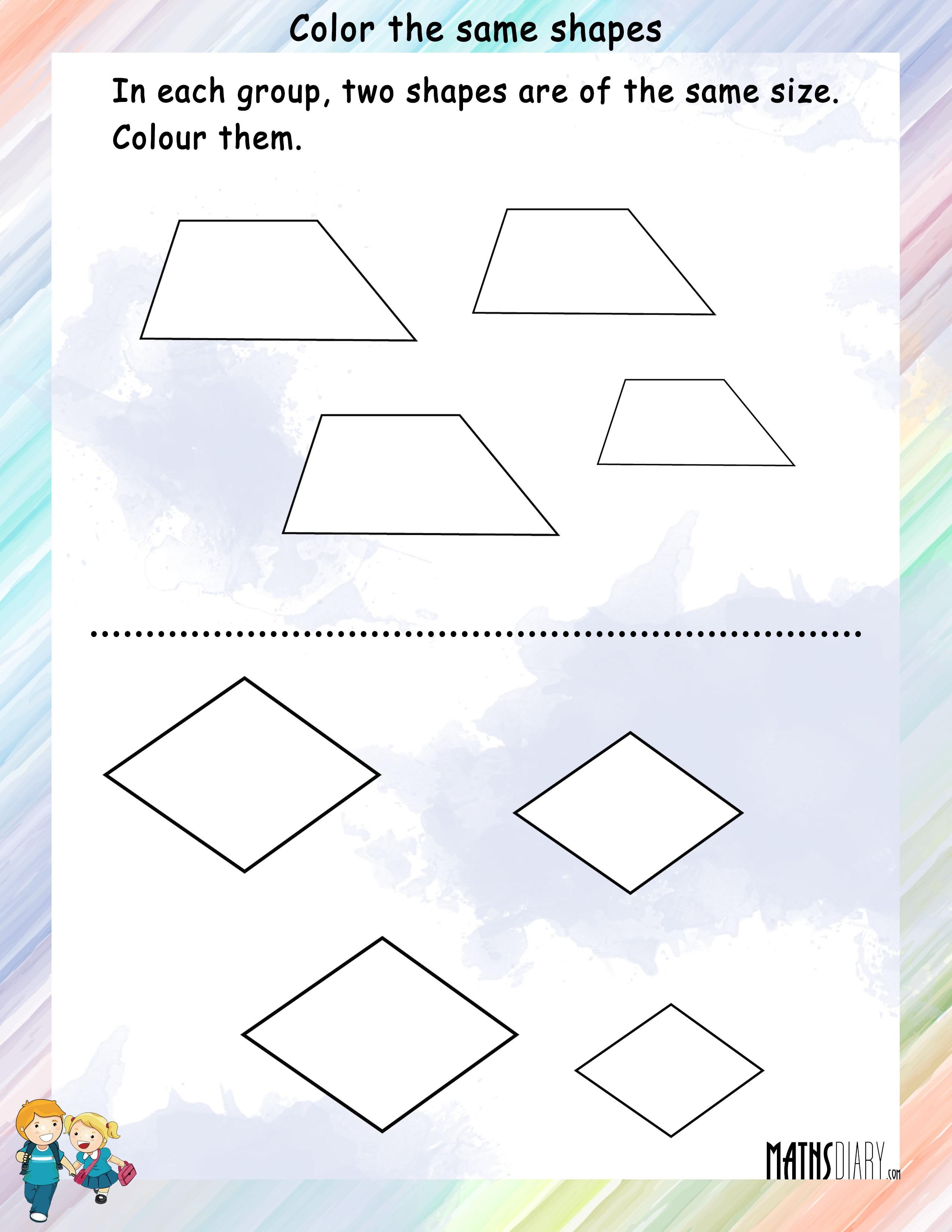 shapes grade 1 math worksheets. Black Bedroom Furniture Sets. Home Design Ideas