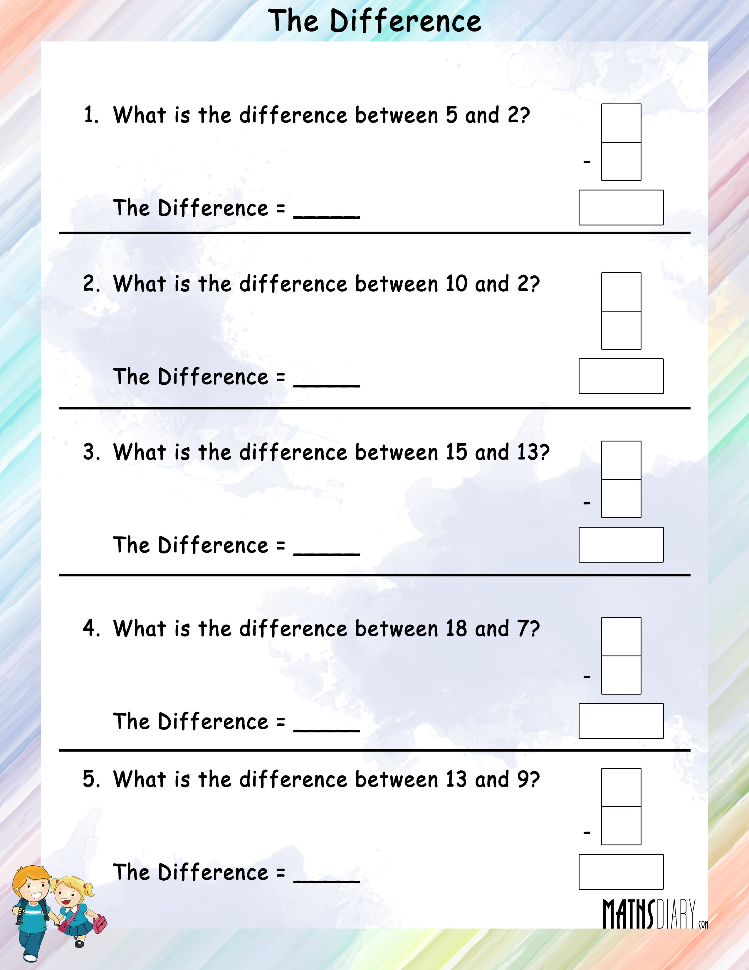how to find the difference