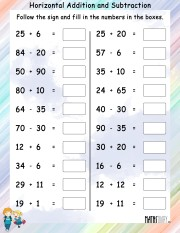 Horizontal-addition-subtraction-worksheet- 7