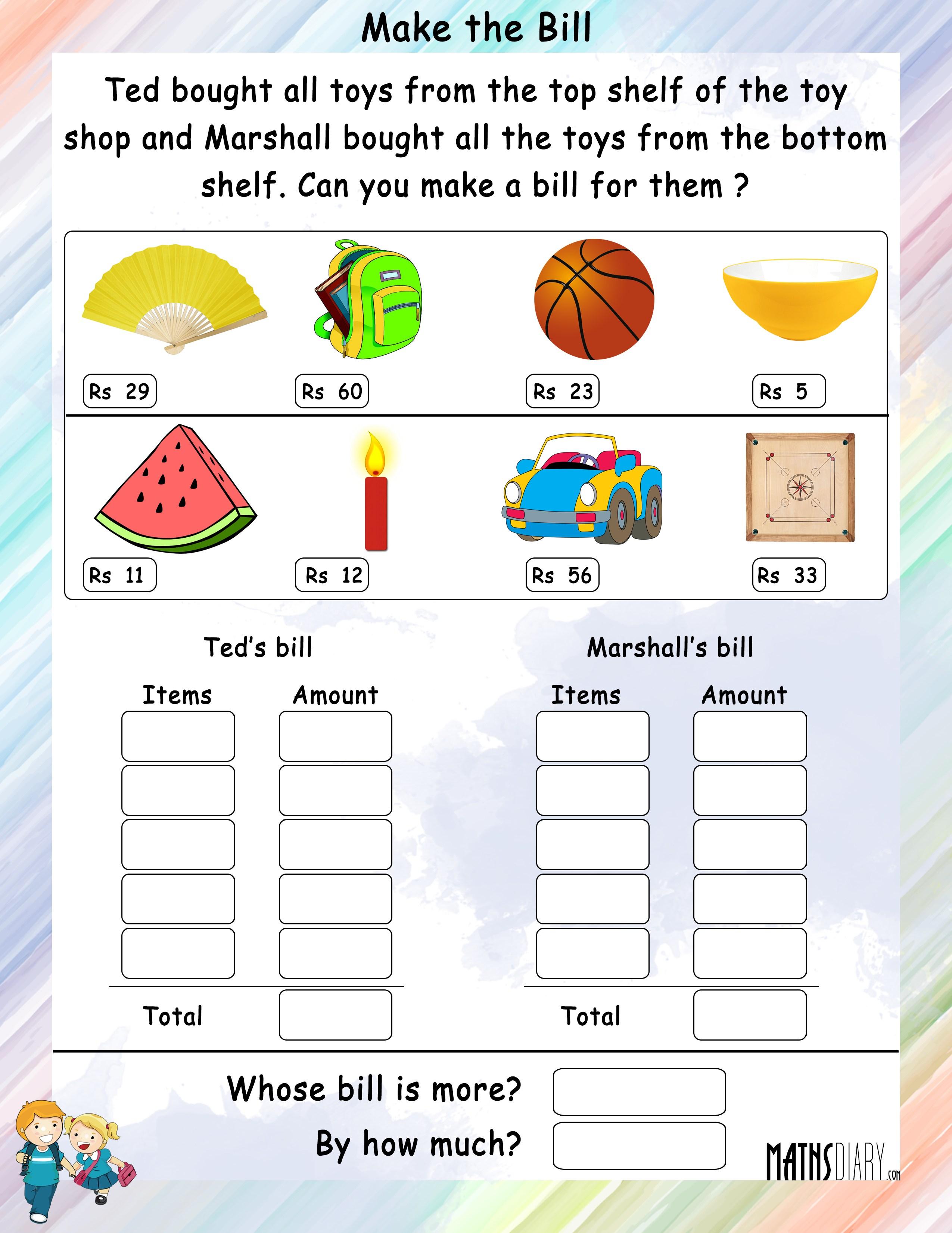 Make Math Worksheets subtraction 5 kindergarten subtraction – Make a Math Worksheet