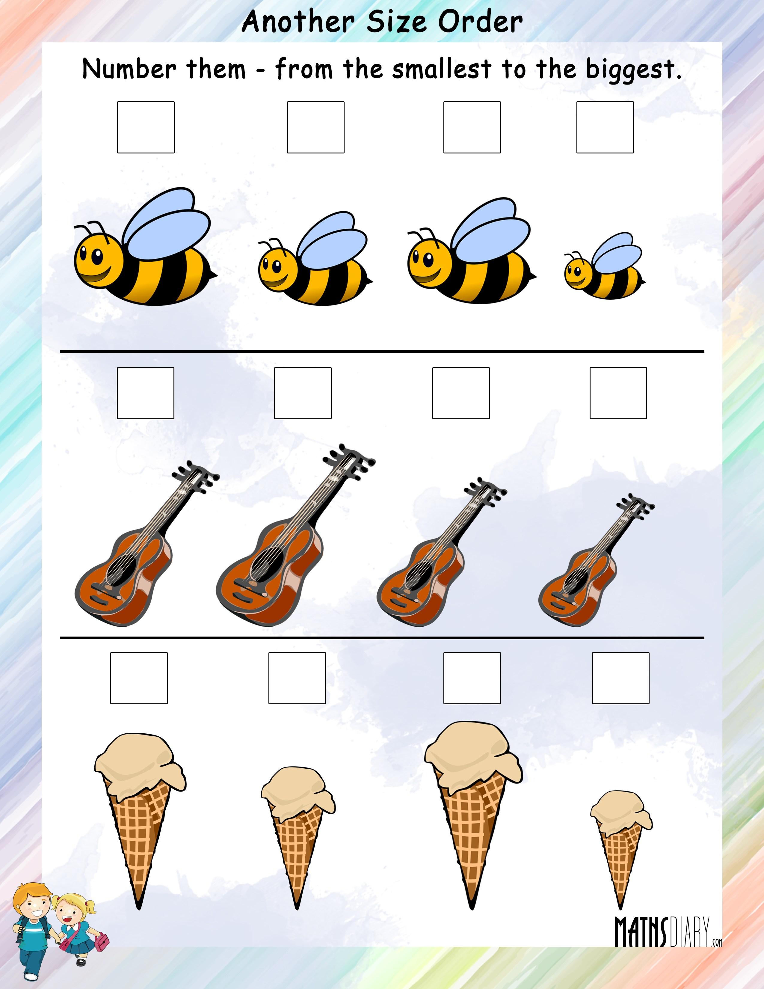Ascending-Descending Order – Grade 1 - Math Resources