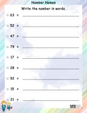 Number-names-worksheet 7