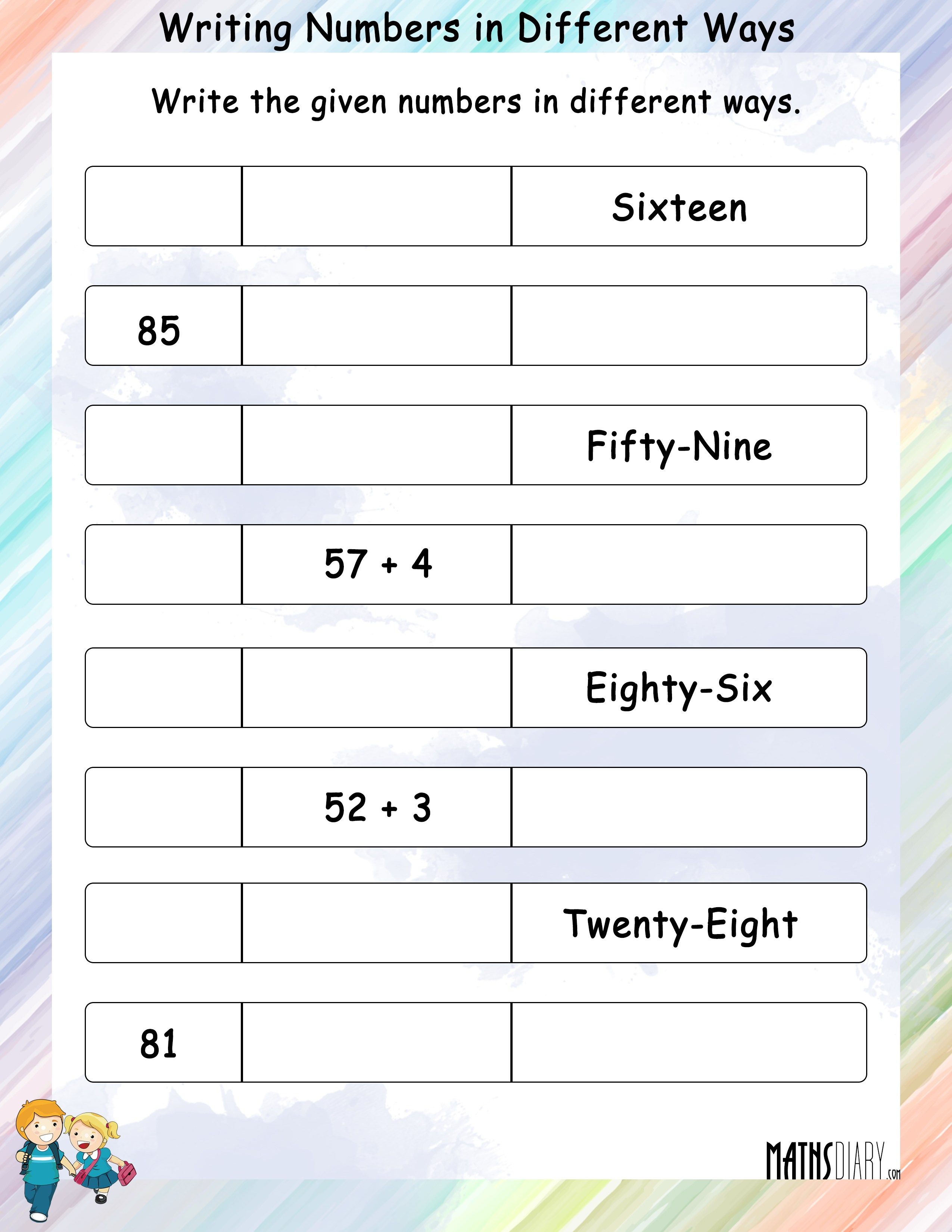 ways to write numbers Writing numbers in words involves both numeracy and literacy, which can be difficult foryour own language to know how to write numbers in words in english.