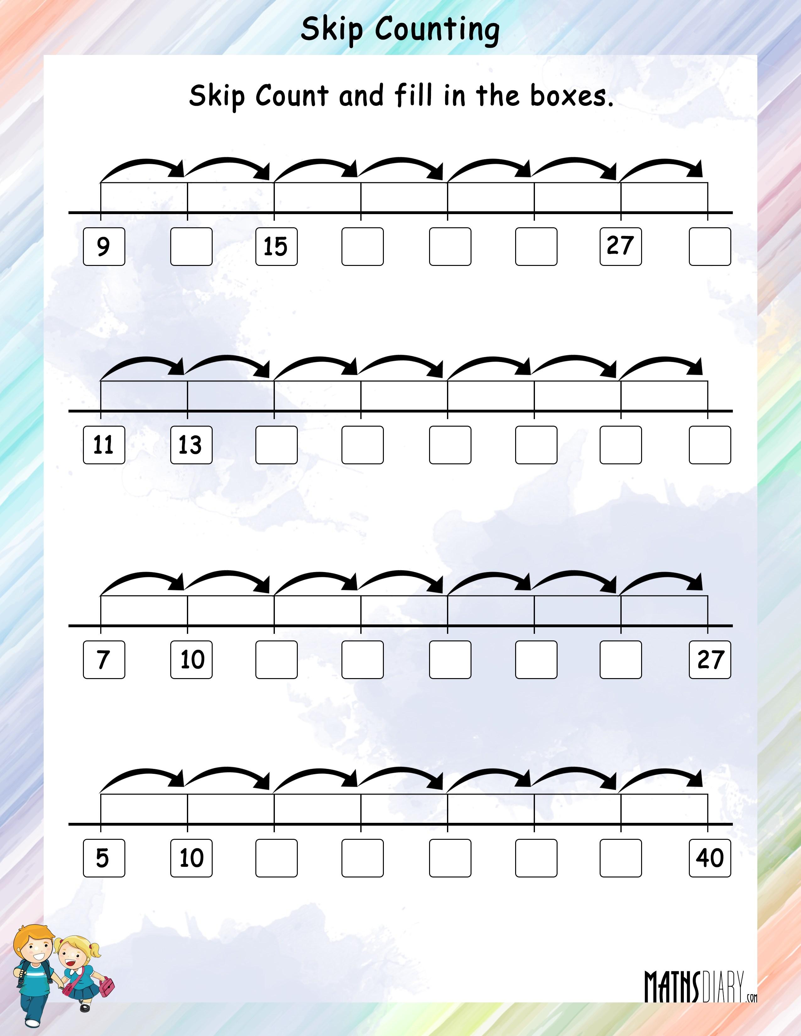 worksheet Skip Counting Worksheets skip counting worksheets mathsdiary com worksheet 5