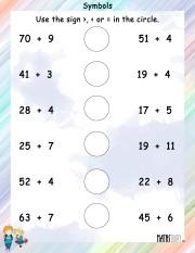 Symbols-worksheet 10