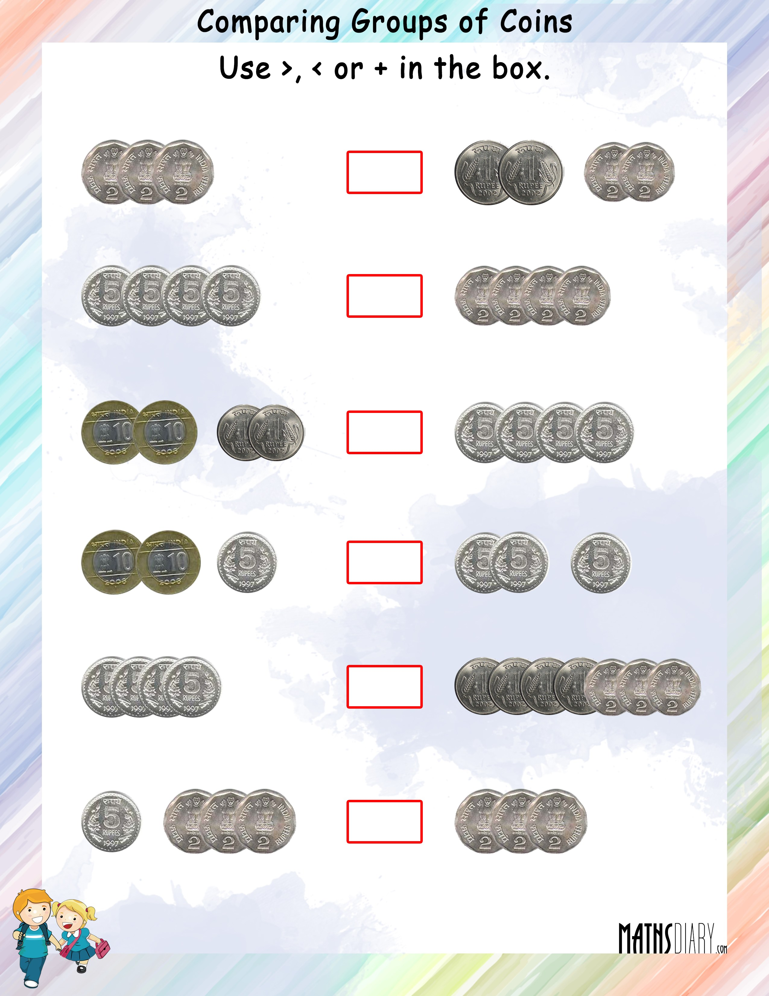 pare Coins Currency MathsDiary