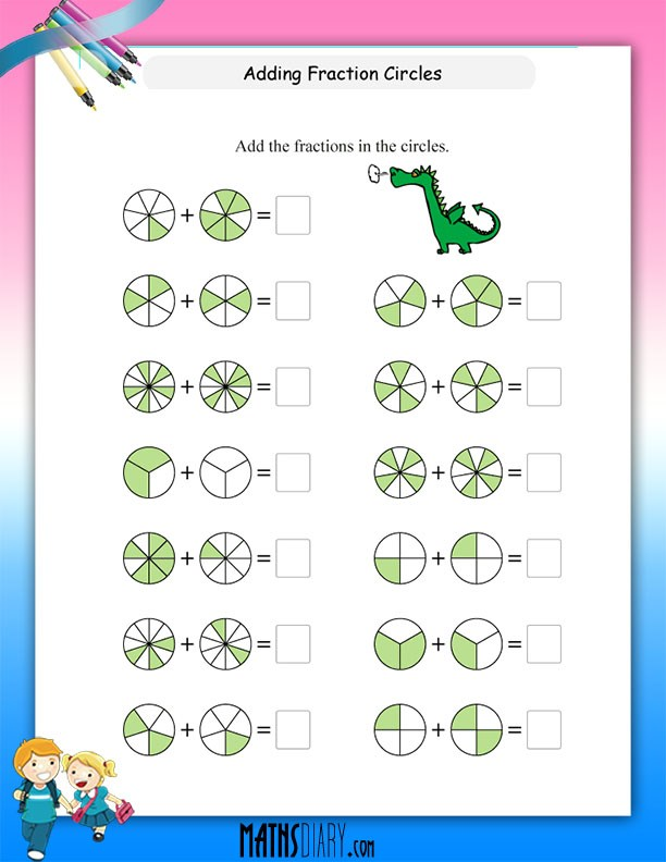 Adding fractions worksheets 4th grade